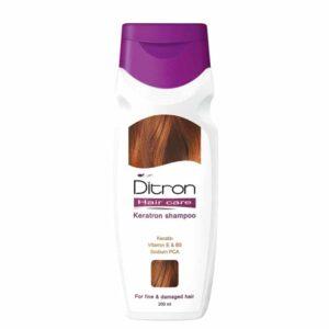 شامپو کراتین دیترون جهت درمان موی آسیب دیده