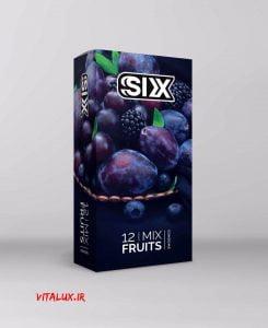 کاندوم میوه ای سیکس Six (چرب و روان)