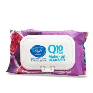 دستمال مرطوب پاک کننده آرایش دافی کیوتن Q10