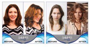 قبل و بعد از استفاده از کیت شیمر فرامسی